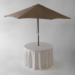 Rental store for TABLE ROUND UMBRELLA 48 in Austin TX