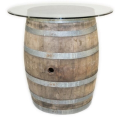 Rental store for WINE BARREL GLASS TOP 36 in Austin TX