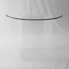 Rental store for TABLE GLASS TOP W  ACRYLIC BASE 48 in Austin TX