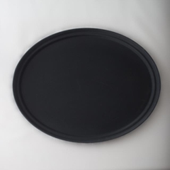 Rental store for OVAL WAITER TRAY BLACK in Austin TX