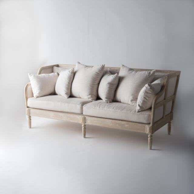 Where to find SOFA WHIM WOOD TRIM WHITE in Austin