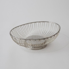Rental store for BREAD BASKET OVAL SILVER WIRE in Austin TX