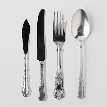 Rent Vintage Silver Flatware Collection