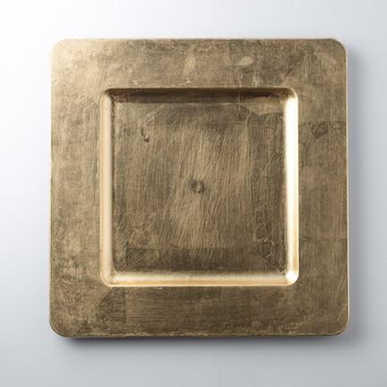 Rent Acrylic Square Gold Chargers