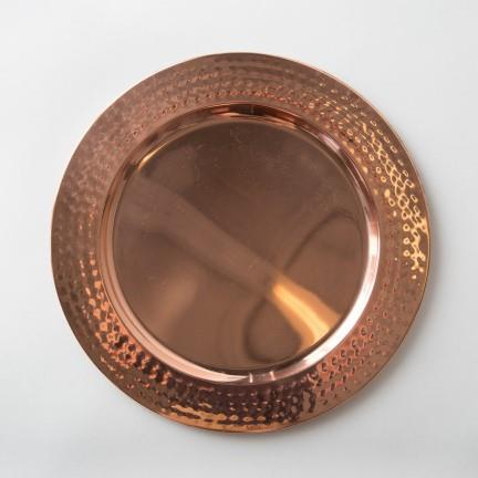 Rent Hammered Copper Chargers